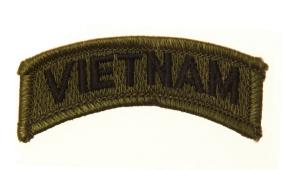 ECUSSON / PATCH VIETNAM VERT ET NOIR THERMO COLLANT AIRSOFT