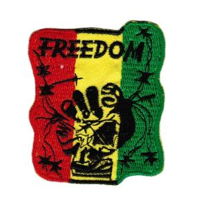 ECUSSON OU PATCH FREEDOM ROUGE JAUNE ET VERT BRODE THERMO COLLANT