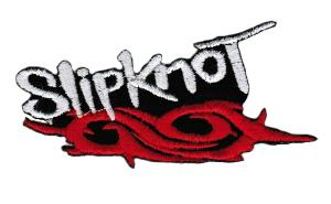 ECUSSON OU PATCH SLIPKNOT BLANC ET ROUGE BRODE THERMO COLLANT