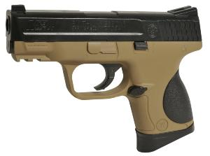 M&P 9C SMITH ET WESSON SPRING POWERED BICOLOR NOIR + TAN 0.3 JOULES