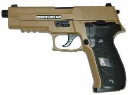 SIG SAUER P226 GAZ TAN BEIGE SABLE FULL METAL BLOW BACK SPIN UP KJ WORKS 0.8 JOULE