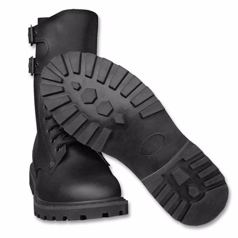 paire rangers chaussure montante cuir noir lacet boucle miltec 12808000 militaire rangeots airsoft. Black Bedroom Furniture Sets. Home Design Ideas