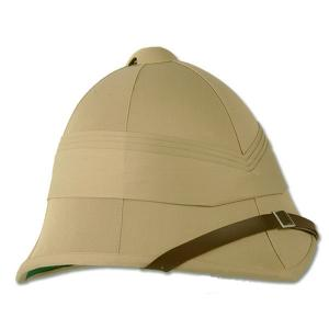"CASQUE OU CHAPEAU COLONIAL "" TROPICAL "" BRITANNIQUE KAKI (BEIGE)"