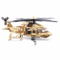 JEU DE CONSTRUCTION BRIQUE EMBOITABLE SLUBAN ARMY HELICOPTERE BLACK HAWK M38-B0509 SOLDATS ARTICULES