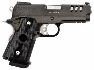 HI CAPA 3.8 TYPE C NOIR ET CHROME FULL METAL GAZ BLOWBACK HOP UP RAIL 0.9 JOULE