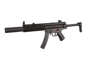 FUSIL A BILLES AEG MP5 - S6 SEMI ET FULL AUTO HOP UP AVEC SILENCIEUX ET CROSSE RETRACTABLE 1 JOULE