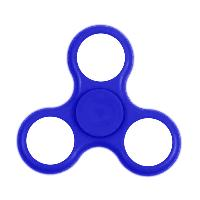 HAND SPINNER / TOUPIE A MAIN EN PLASTIQUE BLEU AVEC LUMIERE LED MULTICOLOR