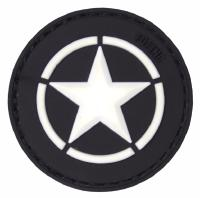 PATCH / ECUSSON 3D PVC SCRATCH ALLIED STAR NOIR ET BLANC