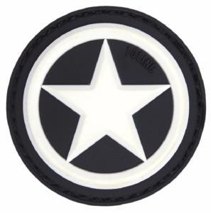 PATCH / ECUSSON 3D PVC VELCRO US ALLIED STAR NOIR ET BLANC
