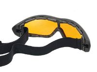 MASQUE - LUNETTE DE PROTECTION FL8013 JAUNE/ORANGE ELASTIQUEE