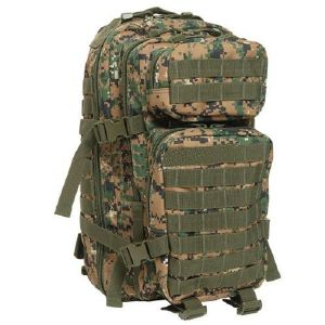 SAC A DOS D'ASSAUT US CAMOUFLAGE DIGITAL WOODLAND EXTENSIBLE ET MULTI POCHES 36 LITRES GRAND VOLUME