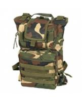 SAC A DOS CAMO WOODLAND MULTI POCHES ET TRANSFORMABLE