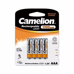 BLISTER DE 4 PILES ACCUS RECHARGEABLES NI-MH 1.2V 1100 MAH AAA R03 CAMELION