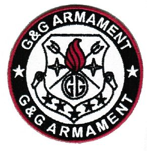 ECUSSON OU PATCH ROND G&G ARMAMENT BLANC ET NOIR SCRATCH