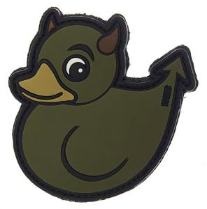 PATCH / ECUSSON 3D PVC SCRATCH CANARD DIABLE / DEVIL DUCK VERT