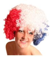 PERRUQUE AFRO SUPPORTER FRANCE MOYENNE