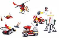 JEU DE CONSTRUCTION COMPATIBLE LEGO SLUBAN FIRE SET VEHICULES CAMION POMPIER M38-B0811 FIGURINES ARTICULES