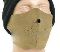 MASQUE DE PROTECTION DEMI VISAGE NEOPRENE REVERSIBLE TAN / NOIR MILTEC