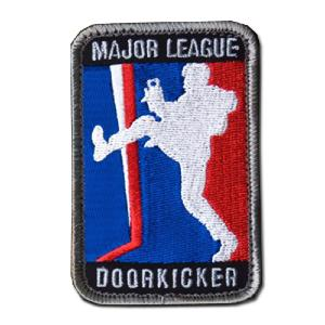 ÉCUSSON OU PATCH MAJOR LEAGUE DOORKICKER FULL COLOR BLEU BLANC ROUGE MSM