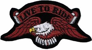 ECUSSON OU PATCH AIGLE HELLS ANGELS TUNING BRODE THERMO COLLANT