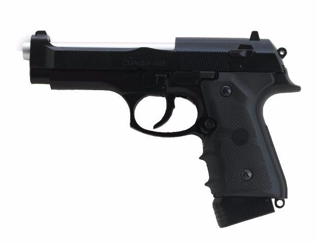 pistolet a billes 105 noir culasse mobile co2 1 1 joule win gun airsoft 92 replique de poing bille m. Black Bedroom Furniture Sets. Home Design Ideas