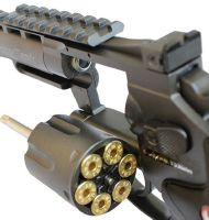 "RUGER SUPER HAWK 4"" CO2 NOIR FULL METAL AVEC RAIL 2 JOULES"