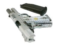 HI CAPA 3.8 BABY VERSION C ARGENT FULL METAL GAZ BLOWBACK HOP UP RAIL 0.9 JOULE