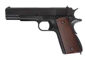 M1911 V3 WE GAZ BLOWBACK FULL METAL NOIR ET MARRON HOP UP 0.74 JOULE