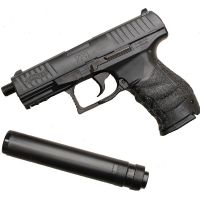 WALTHER PPQ NOIR SPRING UMAREX 0.5 JOULE NAVY + SILENCIEUX + 2EME CHARGEUR