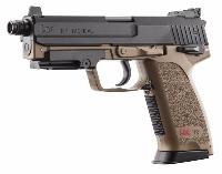 PACK H&K USP TACTICAL AEP TAN UMAREX SEMI ET FULL AUTO SYSTEME SHOOTUP 0.5 JOULE + 2000 BILLES 0.20G