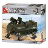JEU DE CONSTRUCTION COMPATIBLE LEGO SLUBAN ARMY VEHICULE BLINDE ARME MILITAIRE M38 B6300