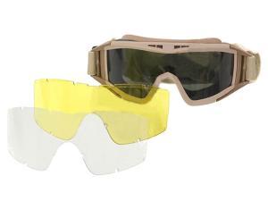 m51617060 tan lunette masque protection deser ecran teinte transparent jaune interchangeable airsoft. Black Bedroom Furniture Sets. Home Design Ideas
