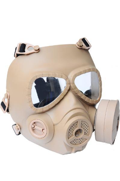 masque de protection visage a gaz fma desert avec ventilateur airsoft tb693 anti buee. Black Bedroom Furniture Sets. Home Design Ideas