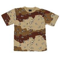 TEE SHIRT CAMOUFLAGE DESERT 6 COULEURS COL ROND ET MANCHES COURTES