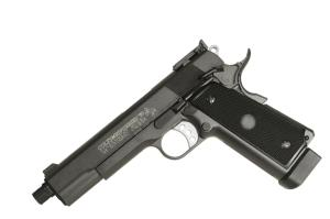 COLT 1911 MK IV NOIR CO2 FULL METAL LOURD BLOW BACK SPIN UP SEMI AUTO 1.3 JOULE
