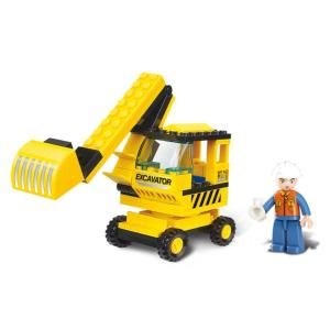 JEU DE CONSTRUCTION COMPATIBLE LEGO SLUBAN TOWN PELLE MECANIQUE M38-B0176 FIGURINES