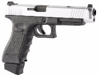 STARK ARMS S34 SILVER CO2 BLOWBACK SEMI FULL AUTO HOP UP 1.2 JOULE  METAL