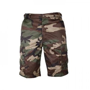 BERMUDA US MULTIPOCHES CAMOUFLAGE WOODLAND TAILLE M