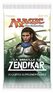 1 BOOSTER DE 15 CARTES SUPPLÉMENTAIRES LA BATAILLE DE ZENDIKAR DE MAGIC THE GATHERING