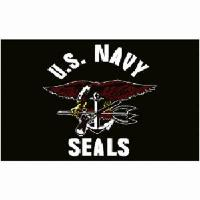 DRAPEAU US NAVY SEALS 90 CM X 150 CM