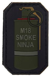 PATCH / ECUSSON PVC VELCRO GRENADE M18 SMOKE NINJA ROUGE