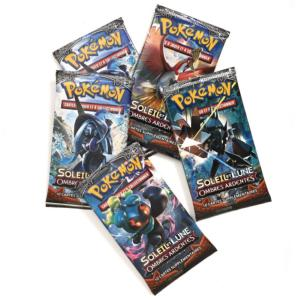 1 PAQUET DE 10 CARTES BOOSTER SUPPLEMENTAIRES POKEMON SL03 SOLEIL ET LUNE OMBRE ARDENTE