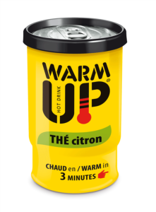 BOISSON EN CANETTE  AUTO CHAUFFANTE WARM UP 200 ML - THE CITRON - LOT DE 6 CANETTES