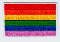 ECUSSON OU PATCH DRAPEAU ARC EN CIEL GAY PRIDE THERMO COLLANT