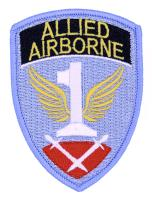 PATCH / ECUSSON TISSU THERMOCOLLANT INSIGNE FIRST ALLIED AIRBORNE ARMY