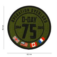 ECUSSON PATCH D-DAY 75 YEARS OPERATION OVERLORD BRODE THERMOCOLLANT