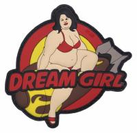PATCH / ECUSSON 3D PVC VELCRO DREAM GIRL ROUGE