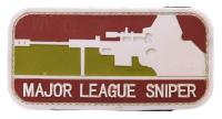 ECUSSON / PATCH 3D PVC VELCRO MAJOR LEAGUE SNIPER MARRON ET VERT