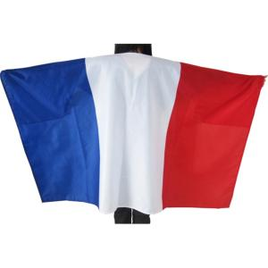 CAPE PONCHO DRAPEAU SUPPORTER FRANCE 90 X 150 CM