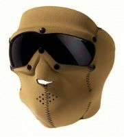 MASQUE DE PROTECTION INTEGRAL SWAT EN NEOPRENE COYOTE AVEC LUNETTES INTEGREES FUMEES